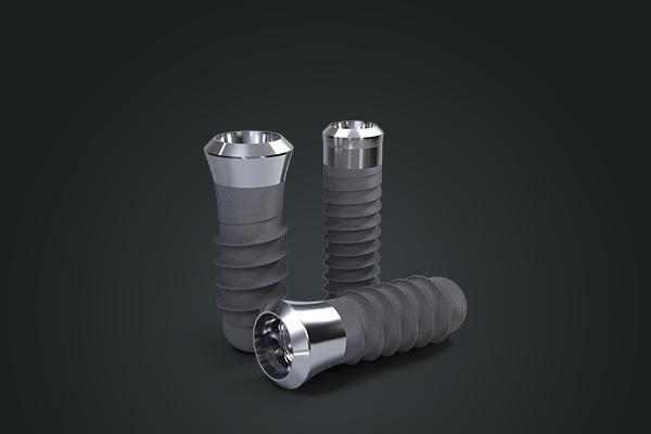 dental implant of titanium